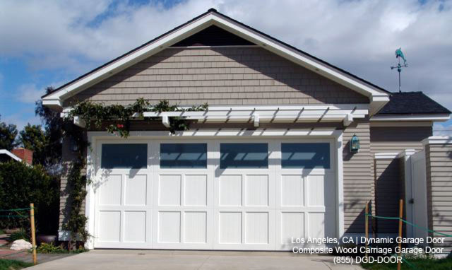 Custom Designed ECO-Friendly Composite Wood Garage Doors Made in Los Angeles, CA traditional-garage-and-shed