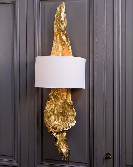 Regina Andrew Gilded Drift Wood Sconce traditional wall sconces