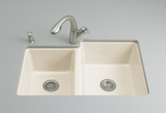 KOHLER K-5814-4U-KA Clarity Undercounter Kitchen Sink with Four-Hole Oversized D traditional-kitchen-sinks