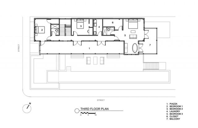 Modern charleston single house modern charleston by for Charleston single house plans