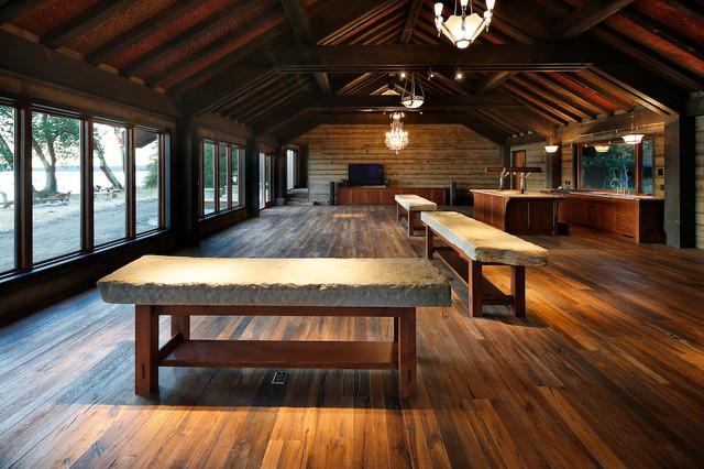"""Gulf Islands Residence"" contemporary-hardwood-flooring"