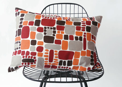 Area - Area Pebbles Pillow in Orange modern pillows
