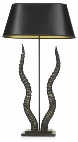 David Hunt Kudu Modern Table Lamp, Black/Gold Finish with Black/Gold Shade eclectic-table-lamps