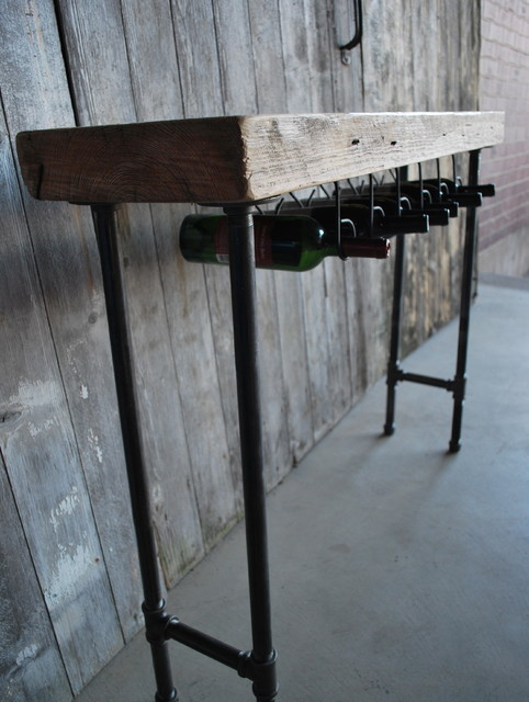 Modern Industry Wine Table and Rack modern-wine-racks