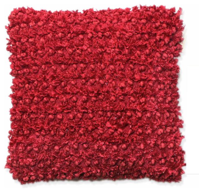Concepts Life Decorative Pillow  Red Textured contemporary-decorative-pillows