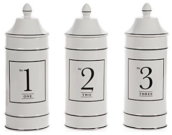 Ceramic Number Canisters modern-food-containers-and-storage