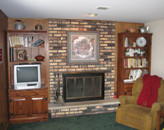 Stone Fireplaces Before & After traditional