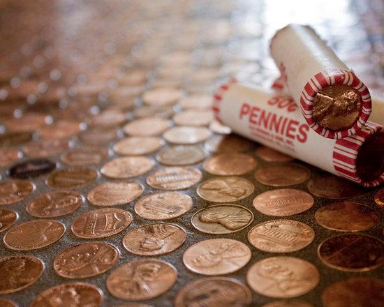 Copper Penny Floor Tile -