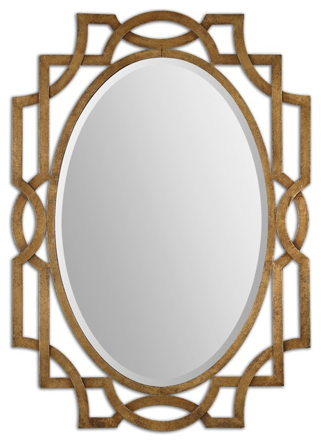 Uttermost Margutta Gold Oval Mirror 12869 - Traditional - Wall Mirrors ...