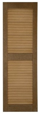 Perfect Shutters 16W in. Closed Louvered Composite Shutters modern-window-treatments