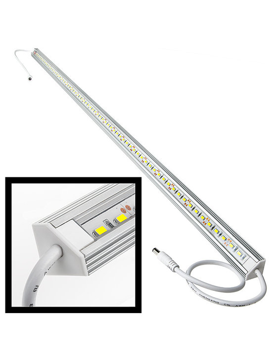 ALB series Aluminum LED Light Bar Fixture - Corner Mount - ALB series corner mount aluminum LED light bar fixture with 72 x 5630SMD LEDs. Available in 1 meter(39.3 in) length. Aluminum housing with clear or frosted lens cover. 12 inch power wires with CPS connector on both ends. 12VDC operation.