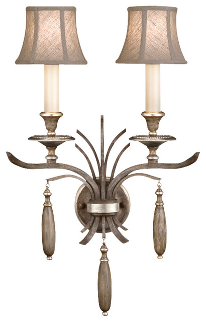 Wall Sconces Driftwood : Fine Art Lamps 808650ST Villa Vista Painted Driftwood Wall Sconce transitional-wall-sconces