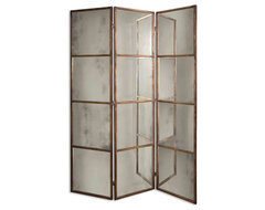 www.essentialsinside.com: Avidan 3 Panel Mirror Screen eclectic-screens-and-room-dividers