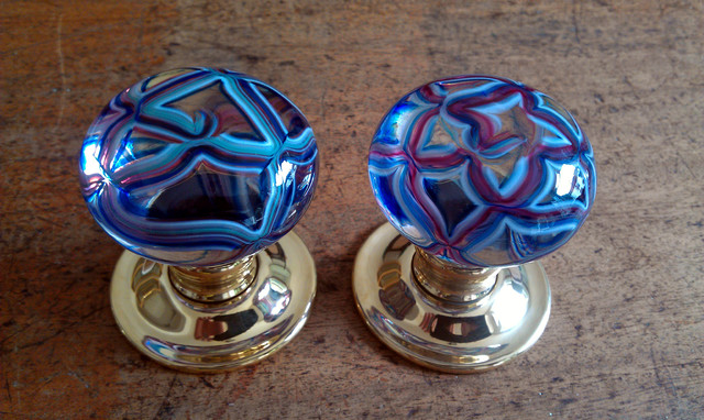 Artisan glass knobs eclectic-cabinet-and-drawer-knobs