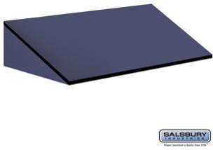 Sloping Hood - for 24 Inch Deep Designer Wood Storage Cabinet - Blue modern-small-kitchen-appliances