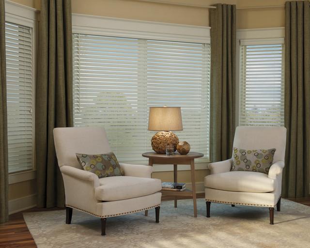 Hunter Douglas® Everwood Faux Wood Alternative Wood Blinds contemporary-window-blinds