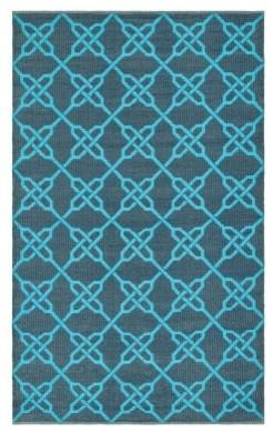 Thom Filicia by Safavieh,Tioga TMF121B Indoor/OutdoorArea Rug Spray/Blue modern-outdoor-rugs