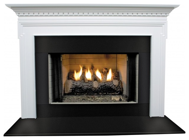 Mt Vernon Mdf Primed White Fireplace Mantel Surround 42