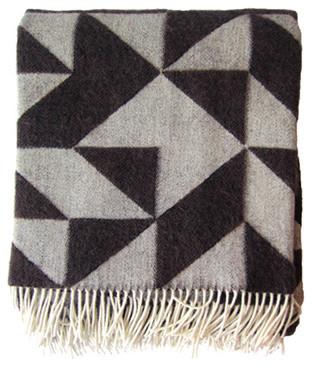 Danish Wool Blanket modern-throws