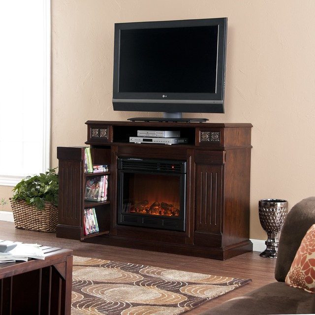 Holly & Martin™ Clifton Media Electric Fireplace-Espresso fireplaces