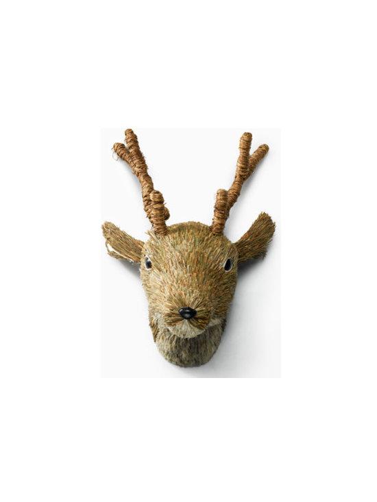 Brown Sisal Deer Head -