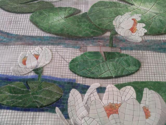 Custom mosaic art mediterranean