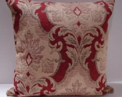 Pillow red and taupe  pillows