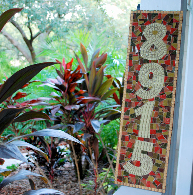 Mosaic house numbers mediterranean house numbers for Mediterranean house numbers