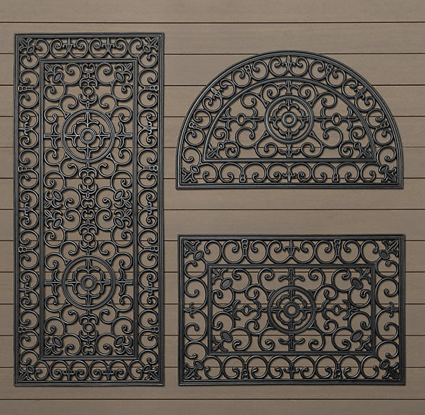 Fleur-de-Lys Rubber Doormat - Traditional - Doormats - by Bonnie ...