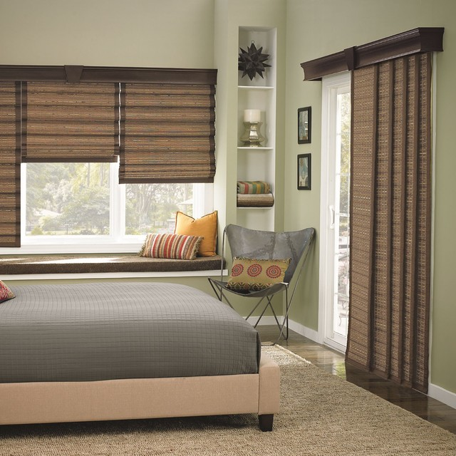 bali woven wood sliding panels contemporary vertical blinds