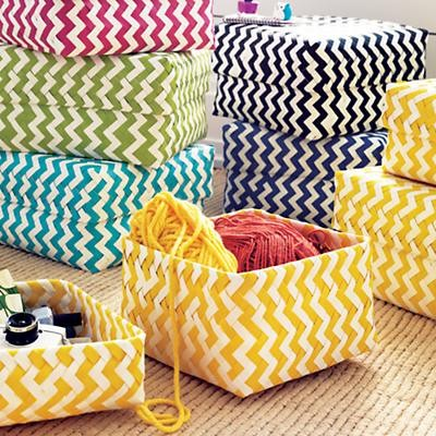 Zig Zag Strapping Baskets modern toy storage