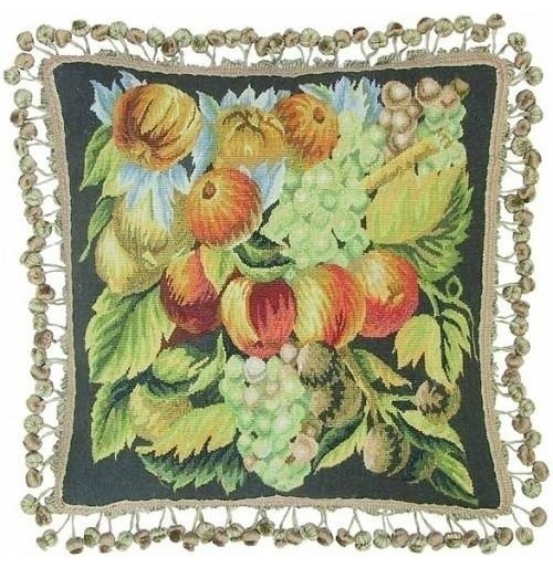 """New Aubusson Throw Pillow Square 20""""x20"""" traditional-pillows"""