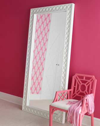 Lilly Pulitzer Home Aster Floor Mirror traditional-mirrors