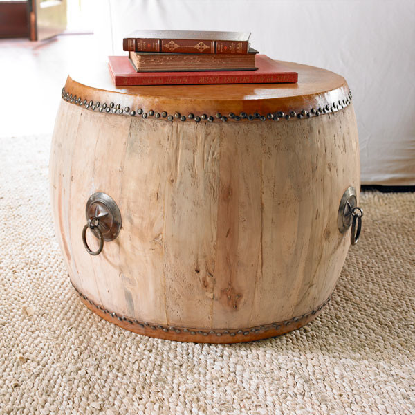 Chinese Drum Coffee Table: Drumming Up Side Table