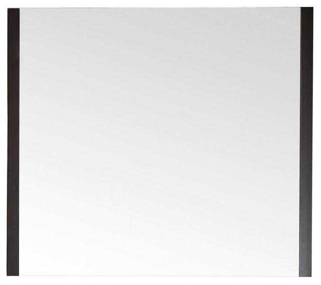 Avanity Loft 36 x 31.5 Mirror, Dark Walnut (LOFT-M36-DW) contemporary-bathroom-vanities-and-sink-consoles