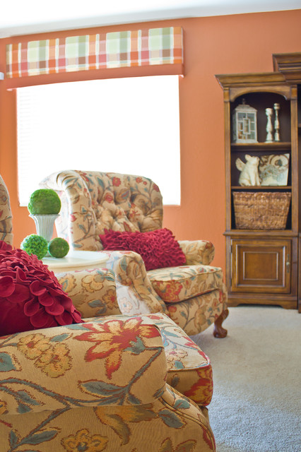 Preppy Color Punch traditional-family-room