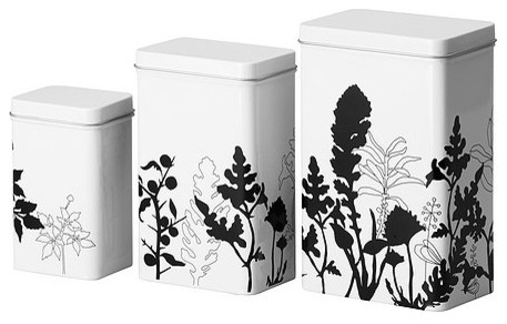 TRIPP Storage tin with lid, set of 3 modern-kitchen-canisters-and-jars