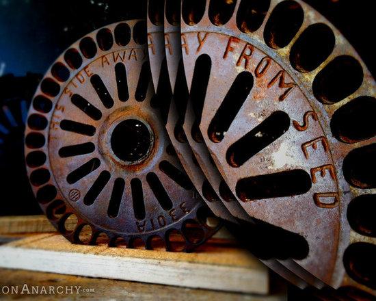 Antique Industrial Gear Decor - Antique Vintage Industrial Cast Iron Gear Decor