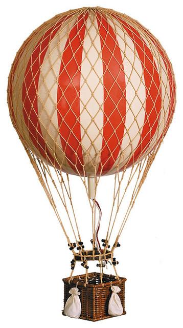 large hot air balloon model in red modern nursery. Black Bedroom Furniture Sets. Home Design Ideas
