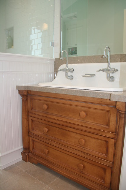 Beach House traditional bathroom sinks