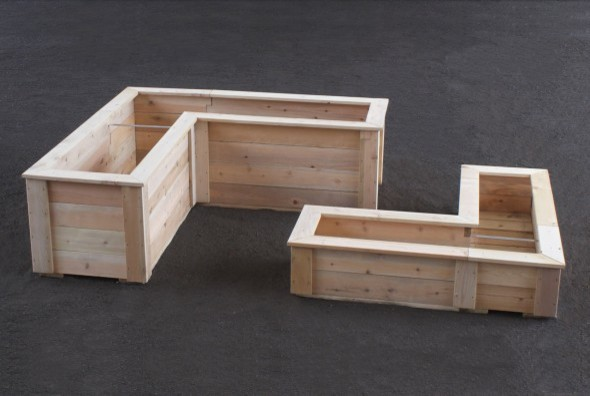Shaped Planter Boxes - Modern - Outdoor Pots And Planters - other ...