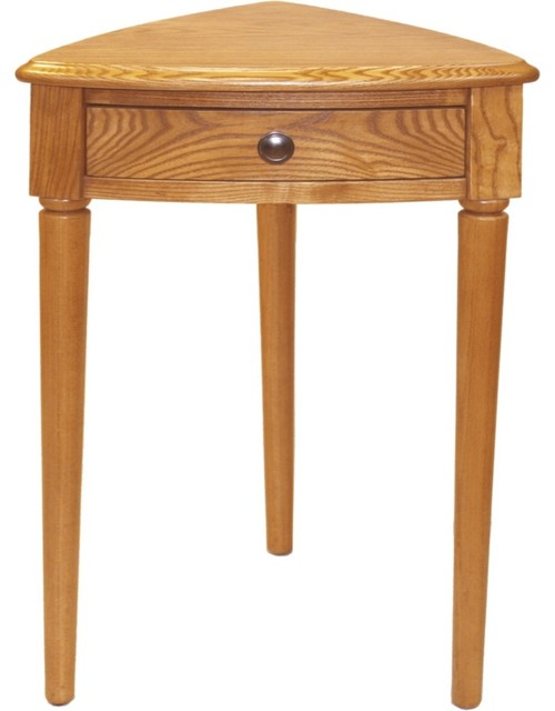 Country cottage favorite finds chestnut satin finish for Corner bed table