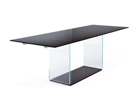 Sovet Italia - Sovet Italia | Valencia Clear Glass Extension Table - Design by Lievore Altherr Molina, 2006.