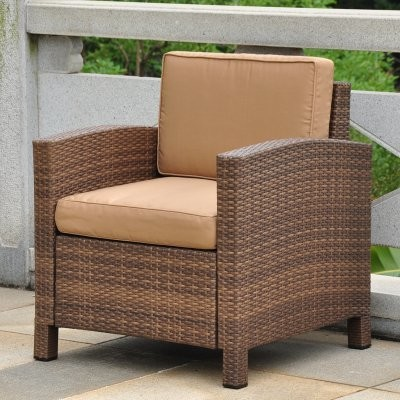 Barcelona All-Weather Wicker Contemporary Patio Lounge Chair with Cushions modern-patio-furniture-and-outdoor-furniture