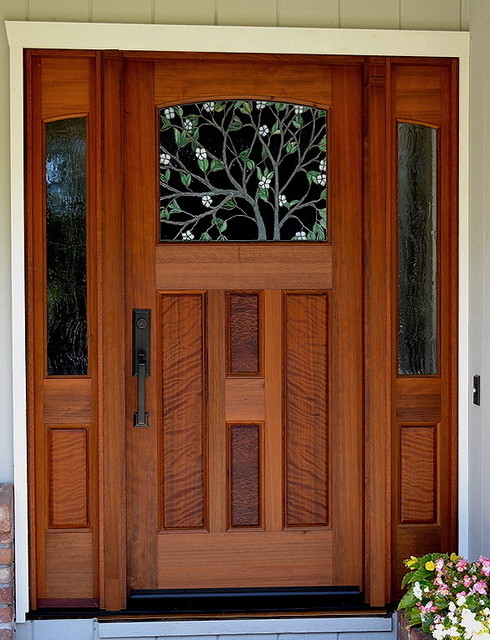 The dogwood entry traditional front doors san for Front door design with window
