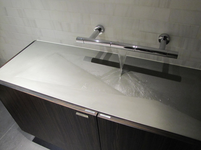 Concrete bathroom sink modern bathroom basins new york by concrete shop - Designer bathroom sinks basins ...