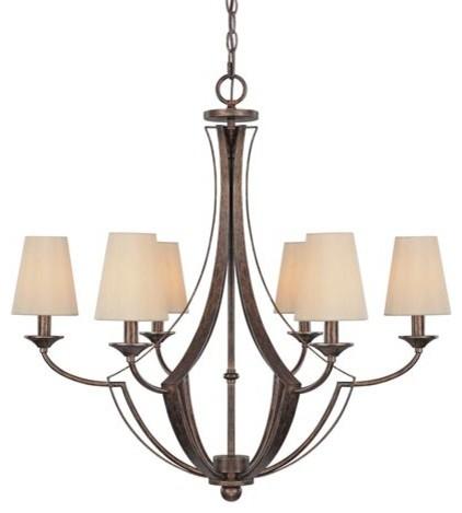 Soho rustic six light chandelier modern chandeliers for Houzz rustic lighting