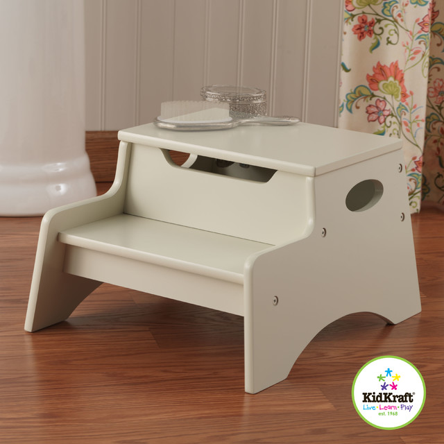 Kids Storage Unit with Step N Store In Vanilla Color From Vostastores traditional-kids-tables