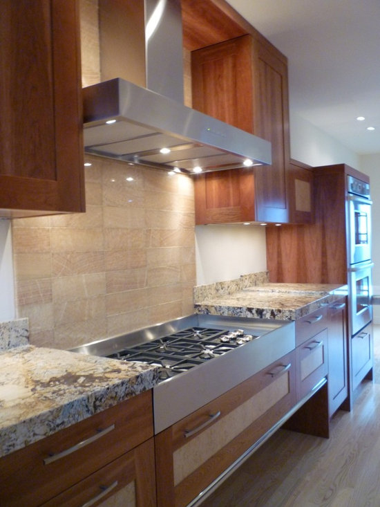 Cherry Ash - Nice integration of different materials with granite counter tops.