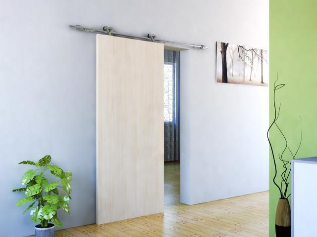 modern barn door hardware for wood door contemporary